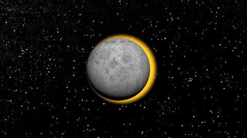 sun eclipse Animation