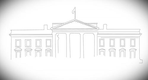 4 K White House 02 handdraw Animation