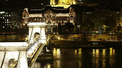 Budapest by Night Footage