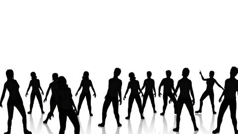 Dancers Silhouette 2 Animation