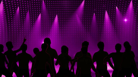 Disco Stage Dancers 4 Animation
