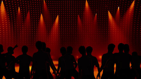 Disco Stage Dancers 10 Stock Video Footage