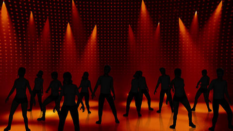 Disco Stage Dancers 14 Stock Video Footage