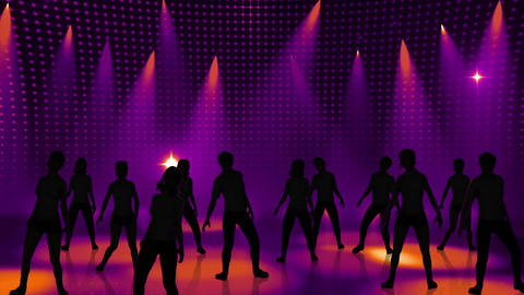 Disco Stage Dancers 16 Animation