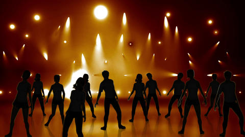 Disco Stage Dancers 18 Animation