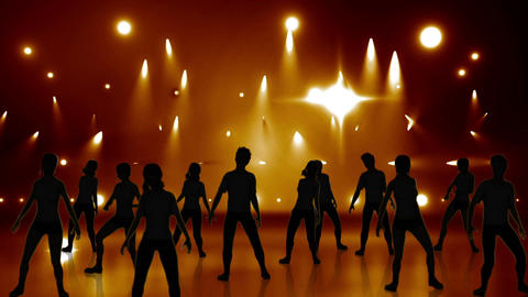 Disco Stage Dancers 18 Stock Video Footage