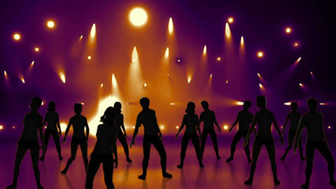 Disco Stage Dancers 20 Animation