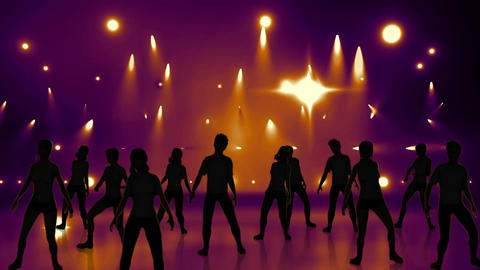 Disco Stage Dancers 20 Stock Video Footage