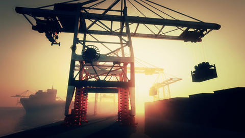 Industrial Port 2 Stock Video Footage