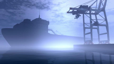 Industrial Port 6 Stock Video Footage