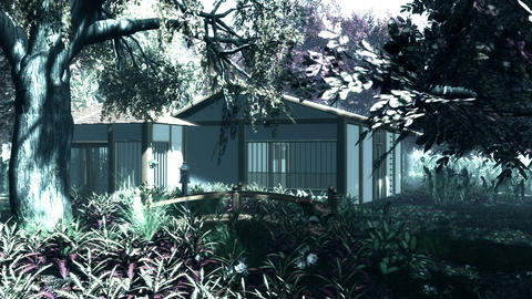 Japanese Garden and House 2 Animation