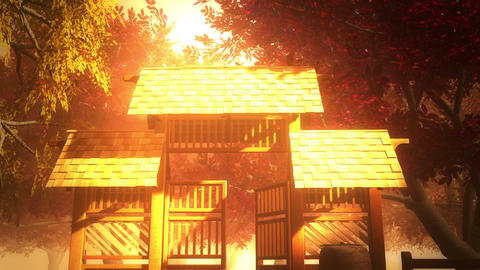 Japanese Garden and House 4 Animation