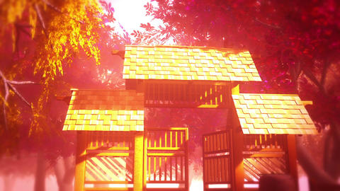 Japanese Garden and House 6 Stock Video Footage
