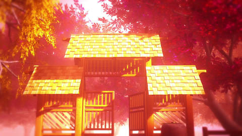 Japanese Garden and House 6 Animation