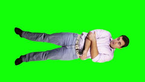 Men Elbow Pain Full Body Greenscreen 1 Stock Video Footage