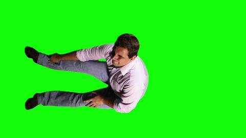 Men Knee Pain Full Body Greenscreen 7 Stock Video Footage