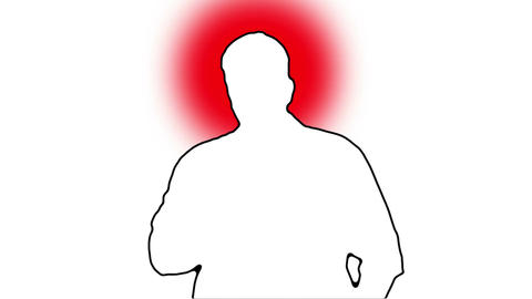 Sneezing Man Silhouette 3 Stock Video Footage