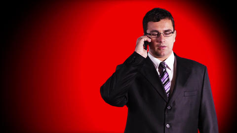 Young Businessman Glasses 2 Stock Video Footage