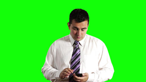 Young Businessman Touchscreen Phone Getting Bad News... Stock Video Footage