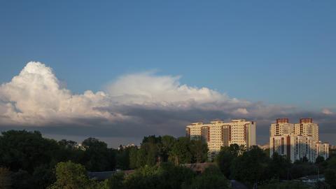 City Evening Rainy Clouds Time Lapse Footage