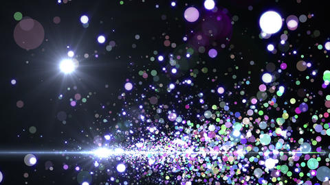 Lens Flares and Particles 16 B3f 4k Animation