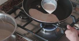 Baking pancake Footage