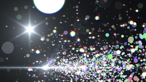 Lens Flares and Particles 16 H3f 4k Animation