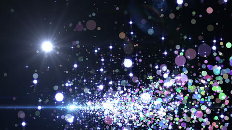 Lens Flares and Particles 16 J3f 4k Animation