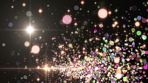 Lens Flares and Particles 16 N3f 4k CG動画