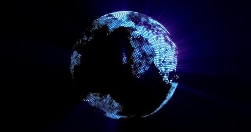 4K Loopable: Digital Globe / Digital World / Technology Abstract Footage
