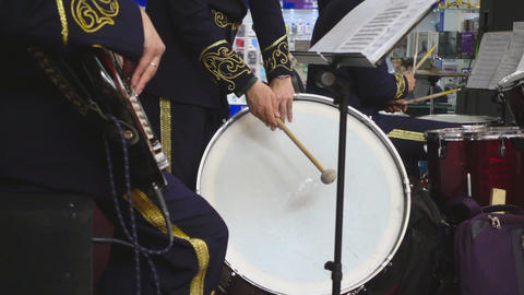 Drummers brass band Footage