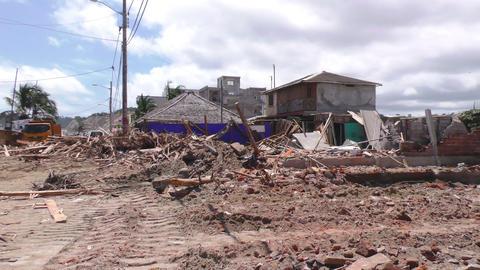 Earthquake Destroys Ecuadorian Coast Village Footage