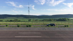 Scenic Summer Landscape and Highway Archivo