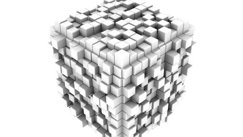 Boxes Form A Cube Animation