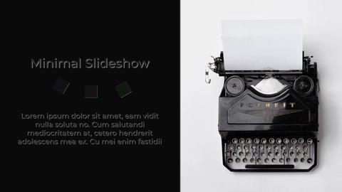 Minimal Slideshow After Effects Template