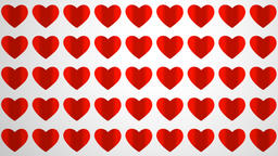 animation loop paper hearts, footage ideal for valentine's day Live Action