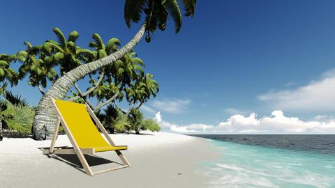 Summer beach background. Tropical island. Paradise ocean landscape Footage