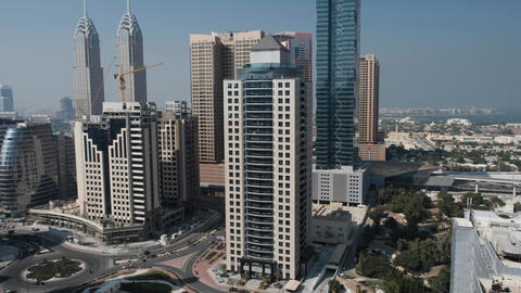 Dubai, January 2019. Panorama of the city from a bird's eye view, view of the Archivo