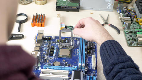 Installing CPU on blue motherboard Live Action