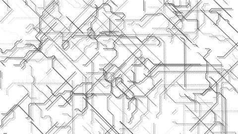 Abstract Circuit Drawing Loop Stock Video Footage