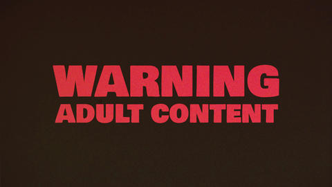 Warning Adult Content Background Animation