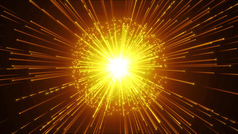 Hyperspace Background With Shining Starburst Videos animados