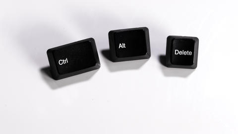 Focus to ctrl, alt. delete computer keypads 영상물