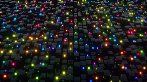 Cubes glow animations 애니메이션