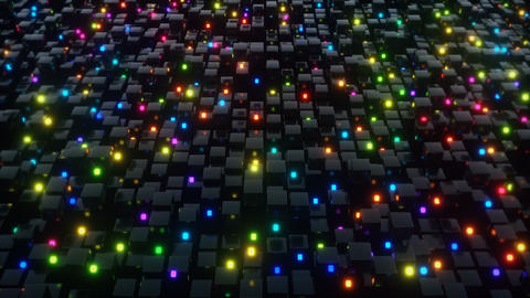 Cubes glow animations Stock Video Footage