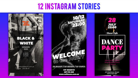 Stylish Posters for Instagram After Effects Template