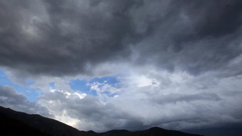 Motion storm clouds approaching. Time Lapse Footage