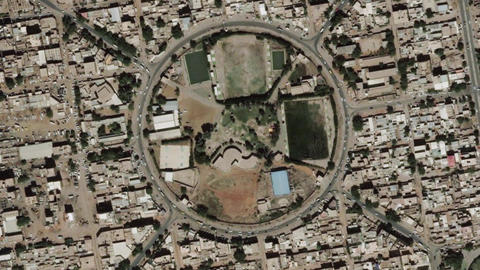 Earth Zoom In Zoom Out Khartoum Sudan Live Action