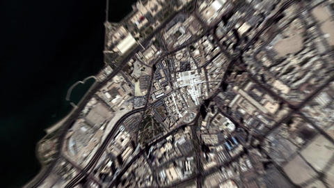 Earth Zoom In Zoom Out Kuwait City Live Action