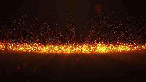 Orange Glowing Dots Particles VJ loop Motion Background V2 Animation